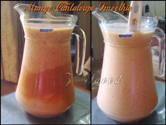 Mango Cantaloupe Smoothie